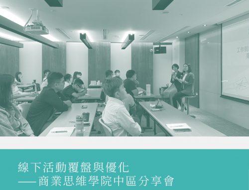 線下活動覆盤與優化 ——商業思維學院中區分享會